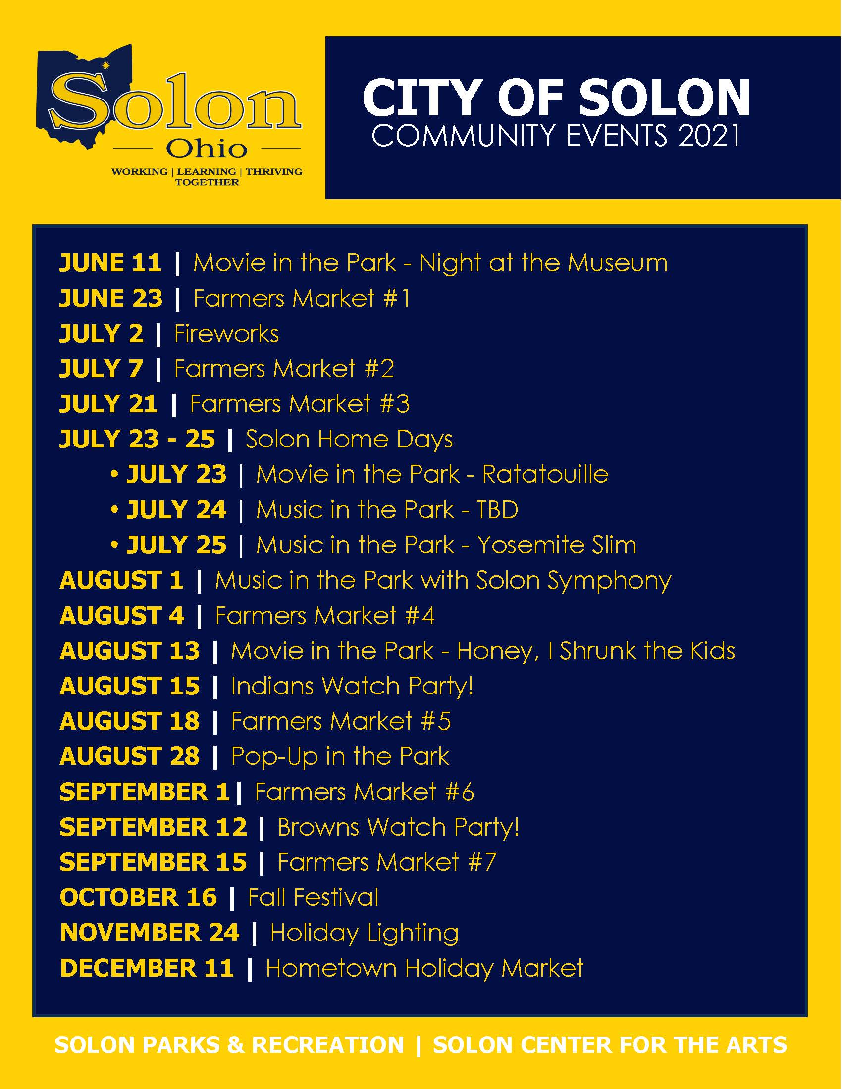 2021 Community Events