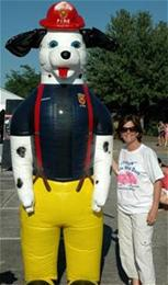 Sparky with Mayor Drucker