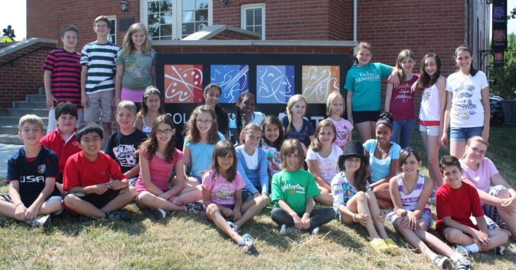 Group photo of kids from the Flat Stanley cast