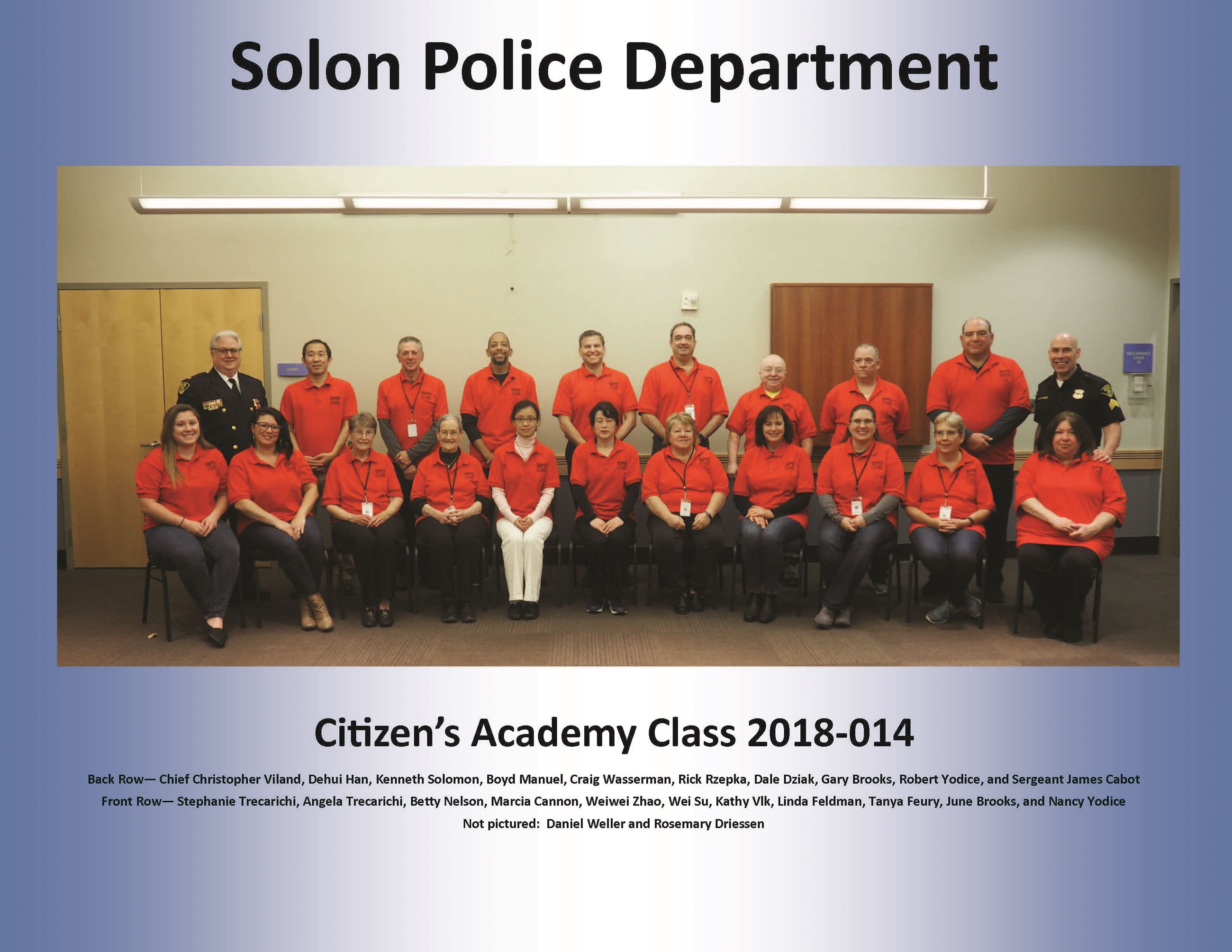 Citizens Academy Photo Fall 2018